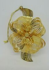Danbury Mint Gold Plated 2006 Christmas Ornament Golden Bow