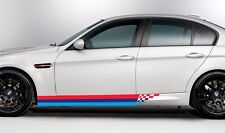 BMW M colors checkered stripes SIDE door M3 M5 M6 e92 e46 e vinyl Decal sticker