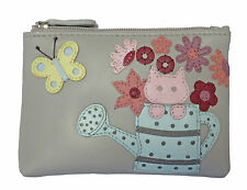 CICCIA CAT IN WATERING CAN GREY LEATHER COIN PURSE RRP £20