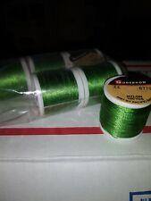 6 100yd Spools Gudebrod Rod Lure Thread Nylon Medium Green #6779 Size Ee
