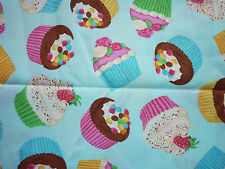 Liquidazione FQ Bright Fairy CUPCAKES CANDY tessuto CIBO CUCINA Kitsch