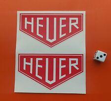HEUER F1 Sticker Formula 1 100MM X 55mm Classic Sports Car Stickers x2