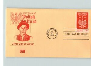 POLISH CULTURE, 1966 Poland's Millennium First Day of Issue # 1313