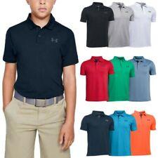 Under Armour Junior Boys Performance Polo Shirt - UA Kids Golf Tennis Hockey Top