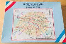 """Paris Jigsaw Puzzle Subway Map """"Le Metro De Paris""""  complete!"""