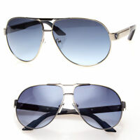 Classic Large Retro Men Fashion Metal Aviator Vintage Designer Sunglasses Black