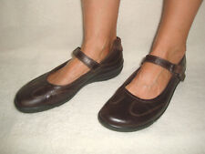 ECCO WOMEN'S BROWN LEATHER MARY JANE SHOES SIZE US 10-10.5 / EU 41
