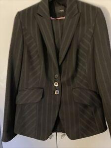"""Laides """"NEXT"""" Pin Striped Trouser Suit Size 16L"""