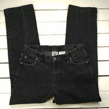 Columbia Womens Jeans Sz 8 Black Wash Loose Mid Rise Straight Leg - J24-18