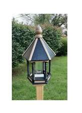 New listing Bird Feeder - Poly Lumber - Amish Handmade - Black Clay - Large Size - Weather R
