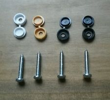 Car Scooter Motor Bike Licence Plate Bolts Screws Cap Fixing Number Reg
