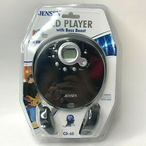 Jensen CD60 Personal Portable CD Walkman Player Bass Boost/Headphones Brand New