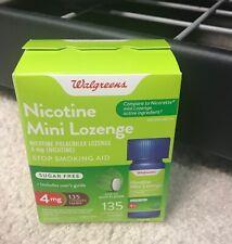 Walgreens Nicotine Mini Lozenge 4mg 135 Lozenges Mint Flavor, Exp 11/2021