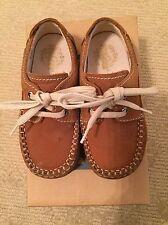 PRIMIGI baby boys brown nubuck suede lace dress shoes Size EUR23/US6.5M + box