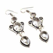White Topaz Ethnic Jewelry Handmade Earring UE-3410