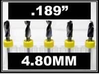 "kyocera cnc pcb model hobby .120/"" LOC .0083/"" #91  FIVE Carbide Drill Bits"