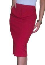 Ladies Office Stretch Skirt Business Pencil Peplum Midi Size 12 14 16 18 20 22