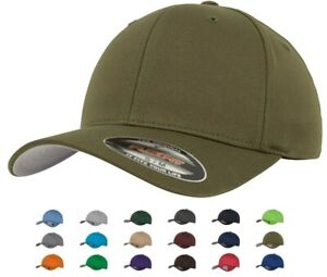 Flexfit Wooly Combed Baseball Cap Hat with Curved Peak
