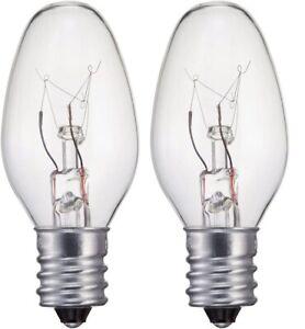 2-PACK-Philips 15W Ceiling Fan Clear C7 Candelabra Base Ceiling Fan Light Bulbs