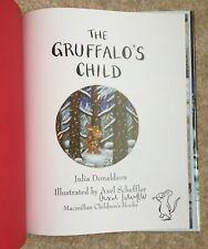 Gruffalo's Child Signed Drawing UK Hardback Genuine Axel Scheffler 2004