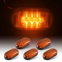 """5PCS Amber 4""""x2""""  Trailer Truck RV Clearance Side Fender Marker Light 4LED 12V"""