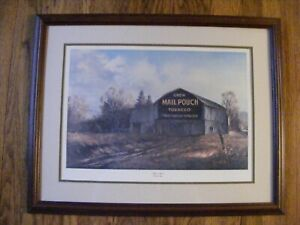 "Russell May - ""Tobacco Barn"" - Signed, Framed"