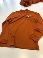 TEAM ISSUED TEXAS LONGHORNS FOOTBALL  GOLF MOCK T Dri-Fit NIKE SIZE XL