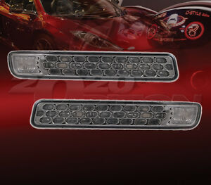 FRONT SIGNAL LIGHT FOR 99-06 GMC SIERRA YUKON XL DRIVING PARKING LAMP SMOKED