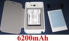 Case White + Battery 6200mAh type EB595675LU For SAMSUNG Galaxy Note 2
