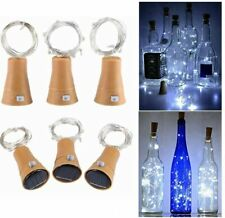 Toifucos Solar Wine Bottle Lights, 6 Pack 20 LED Waterproof Copper Cork Shaped L