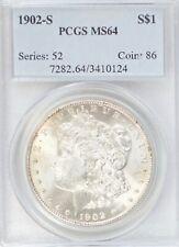 1902-S Morgan Dollar PCGS MS64  #PJ616