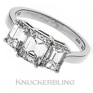 Diamond Engagement Ring 2.40ct Certified G VS1 Emerald Cut in 18ct White Gold