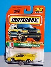 Matchbox 2000 Italian Stars Series #24 Lamboghini Countach Yellow MBX 2000 CHASE