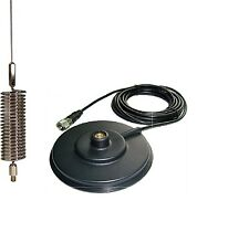 CB ANTENNA SPRINGER CHROME + CB MAGNETIC MOUNT 12CM 3M RG 58U CABLE