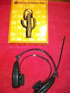 Amoco ¹1990's GPX Wild Wild West Headset Radio AM/FM New