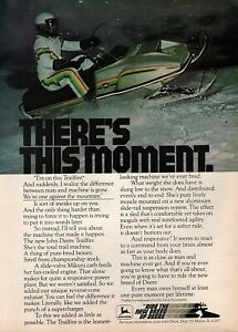 """1978 John Deere Trailfire Snowmobile """"There's This Moment"""" Original Color Ad"""