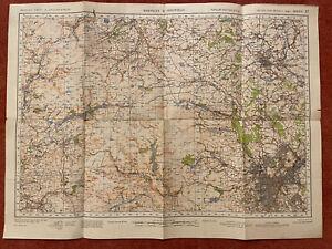 Map of Barnsley & Sheffield WW2, WAR REVISION 1940 Ordnance Survey Sheet #37