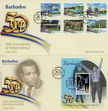Barbados 2015-16 Selection of  8 FDC's and 2 x 2016 MNH Mini Sheets, LOOK!