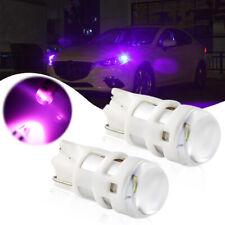 2PCS Super Bright Purple 168 2825 W5W Car LED Parking Light Position Light Bulbs