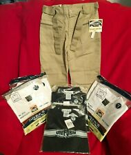 Nwt Size 7 Boys Girls Carter'S/Authentic Galaxy Uniform Lot: Pants*6 Polo Shirts