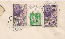 RARE HEXAGONAL COMBES BONE 1962 E A ALGERIE ETAT ALGERIEN. COVER. L851