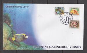 Philippine Stamps 2010 Marine Biodiversity 1p, 20p. 26p March 29 FDC
