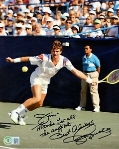 Jimmy Connors signed autograph auto 8x10 Photo Tennis Legend Hall of Fame BAS