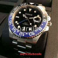 40mm PARNIS black dial luminous ceramic bezel Sapphire Glass Automatic men watch