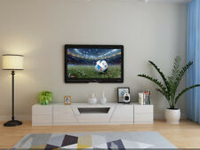 YIMILOVE high gloss white TV stand/ entertainment unit with 2 side tables