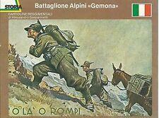CARTOLINE REGGIMENTALI BATTAGLIONE ALPINI GEMONA SCHEDA RIVISTA STORIA 13 X 16