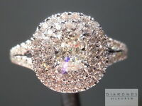 .53ct J VVS2 Cushion Cut GIA Double Halo Ring R5090 Diamonds by Lauren