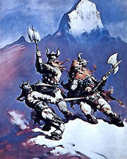 "Snow Giants- Frank Frazetta Print/Poster-Vintage 16""x20"" Rolled (Fz-1-3)"