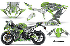 Street Bike Graphics Kit Decal Wrap For Kawasaki Ninja ZX6R 636 13-16 DEADEN GRN