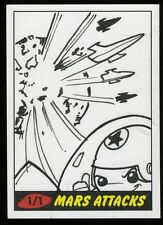 """MICHAEL """"LOCODUCK"""" DURON 2012 Topps Mars Attack Heritage Sketch Card 1/1"""